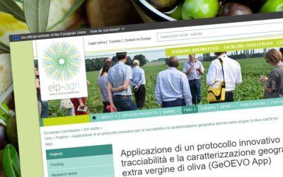 GeoEvo App sul sito del partenariato europeo per l'innovazione Eip-Agri